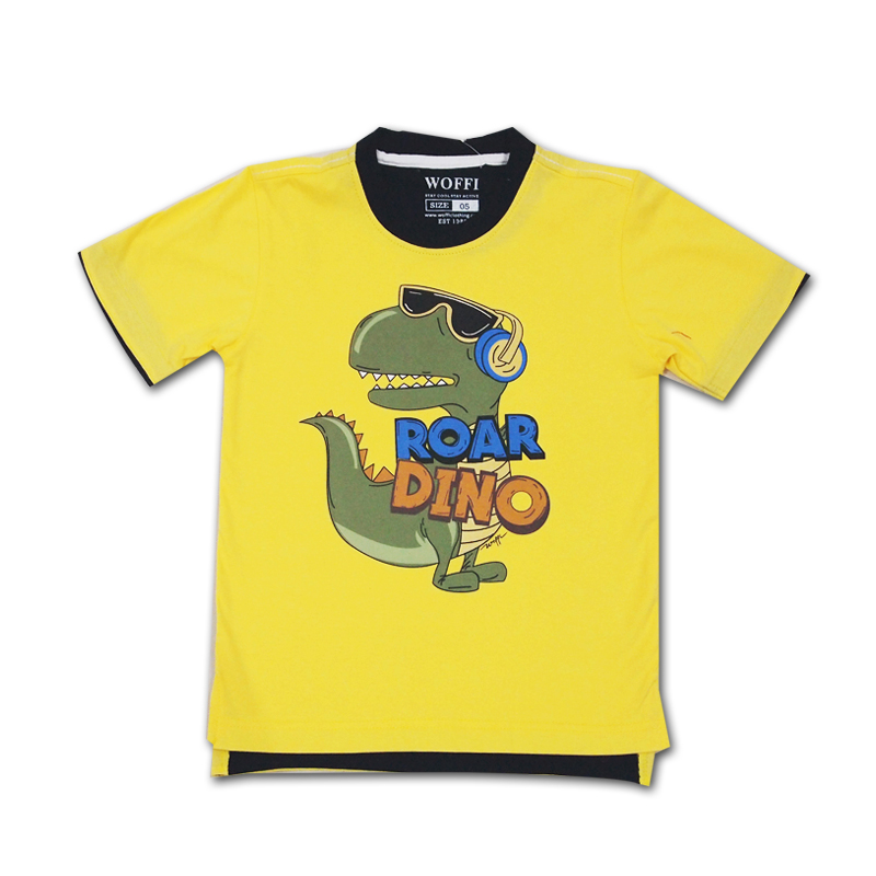 Kaos Woffi Dino Roar Cotton T-Shirt